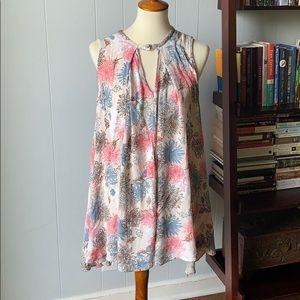 Blush flowing tank dress